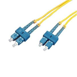 China 3M SC /UPC To SC /UPC 3.0mm Single Mode  Fiber Optic Patch Cord ,Twin Core supplier