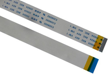 China 60V Voltage Flat Ribbon Cable Color Customized , 6 Pin Ribbon Cable PVC Insulation factory
