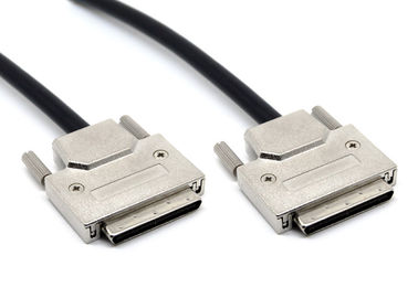 China 68 Pin Scsi III Cable Vhdc  Zinc Alloy Shell Screw Type 1 Amp Rated Current factory