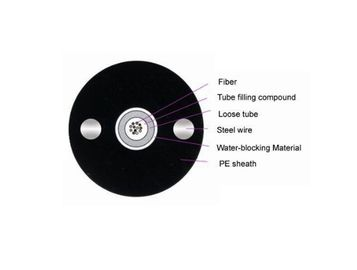 China Coaxial G652D GYXY Fiber Optic Cable 8 Core Unitetube Non - Armoured factory