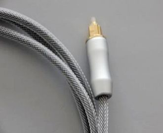 China 2M Toslink To Toslink Fiber Optic Audio Cable With PVC Jacket Nylon Braided distributor
