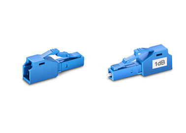 China 1dB LC Singlemode  Male To Female Fiber Optic Attenuator Blue 1 Year Warranty distributor